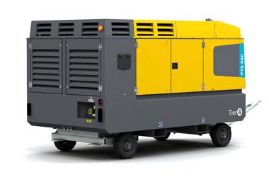 Diesel-driven oil-free air compressor PTS800