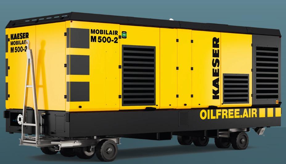 凯撒M500-2无油柴动空压机租赁
