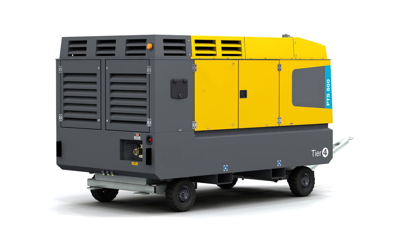 Diesel-driven oil-free air compressor PTS800